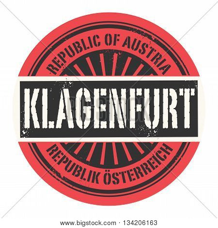 Grunge rubber stamp with the text Republic of Austria, Klagenfurt, vector illustration