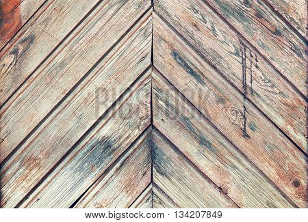 Old wooden planks texture with weathered paint