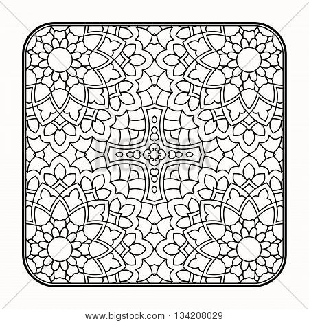 Invitation card with mandala. This is file of EPS10 format.