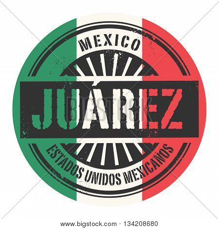 Grunge rubber stamp with the text Mexico, Juarez, vector illustration