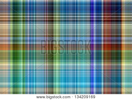Abstract background of colored longitudinal and transverse lines - pattern for cotton and linen fabrics. It can be used for clothes kitchen towels and napkins handkerchiefs.