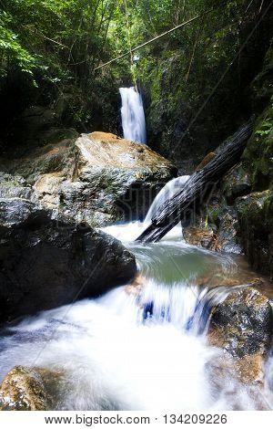 Bang Pae Waterfall Ban Khao Phra Thaeo WildlifePhuket Thailand.