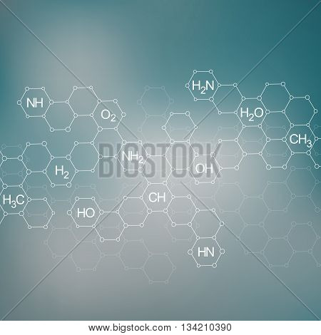 Structure molecule of DNA and neurons. Abstract background. Medicine, science and technology. Vector illustration for your design.