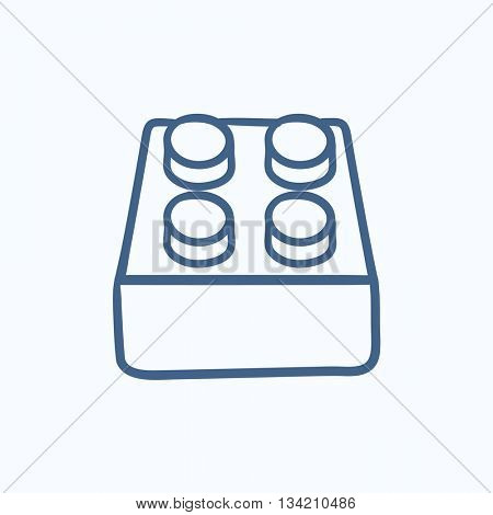 System part vector sketch icon isolated on background. Hand drawn System part icon. System part sketch icon for infographic, website or app.