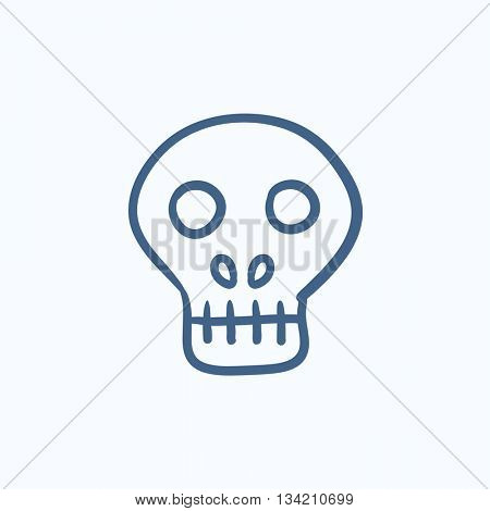 Computer security vector sketch icon isolated on background. Hand drawn Computer security icon. Computer security sketch icon for infographic, website or app.