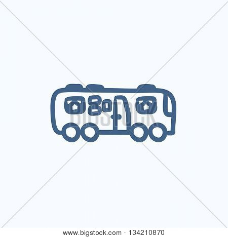 Motorhome vector sketch icon isolated on background. Hand drawn Motorhome icon. Motorhome sketch icon for infographic, website or app.