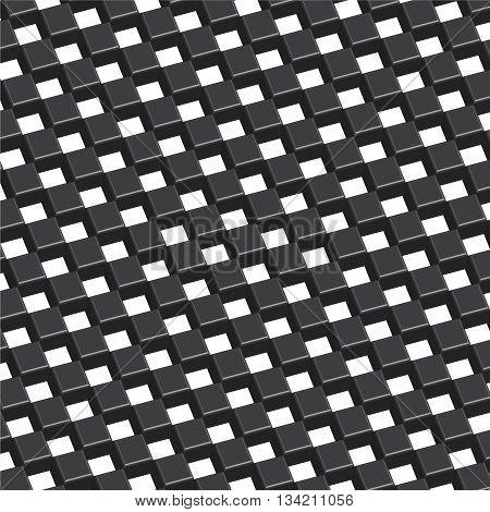 Checkered three dimension black background vector illustration.