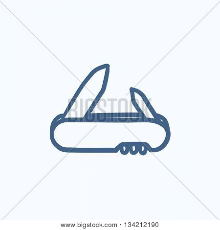 Jackknife vector sketch icon isolated on background. Hand drawn Jackknife icon. Jackknife sketch icon for infographic, website or app.