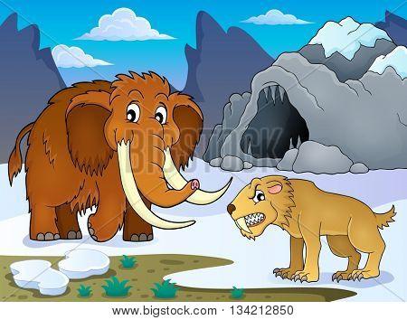 Prehistoric theme image 1 - eps10 vector illustration.