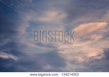 Dark clouds before storm