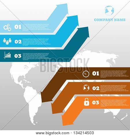 Vector Infographic Arrows Design Template For Web Brochure Graph Report  Presentation Eps 10 Vector