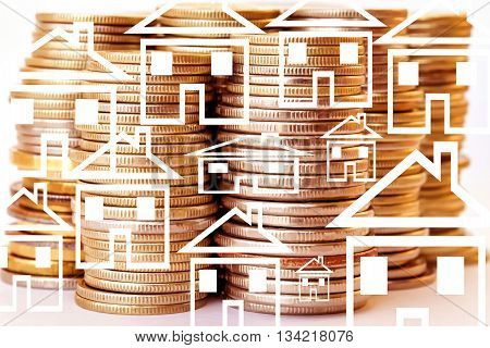 The character of a private house on a background of money