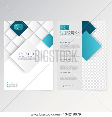 Vector template flyer design layout brochure newsletter