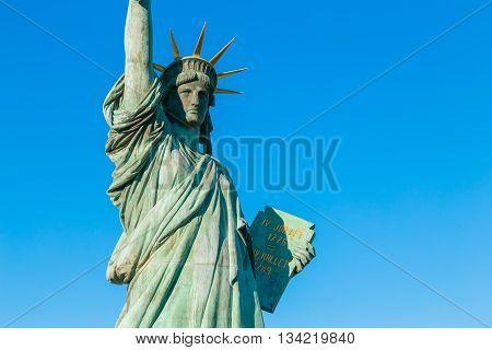 Statue of Liberty in Odaiba area Tokyo Japan