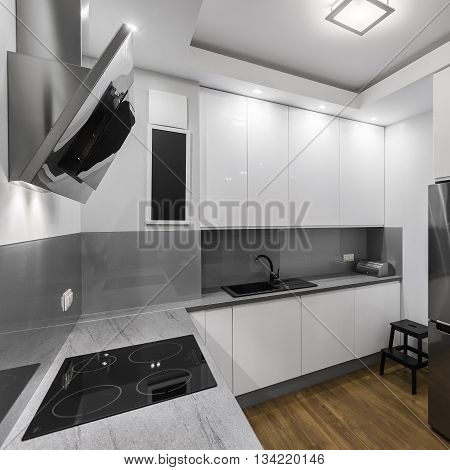 Induction Hob In Kitchen