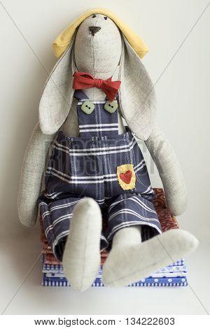Stuffed animal rabbit seat - kids toy