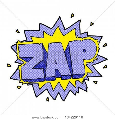 happy freehand comic book style cartoon zap explosion sign