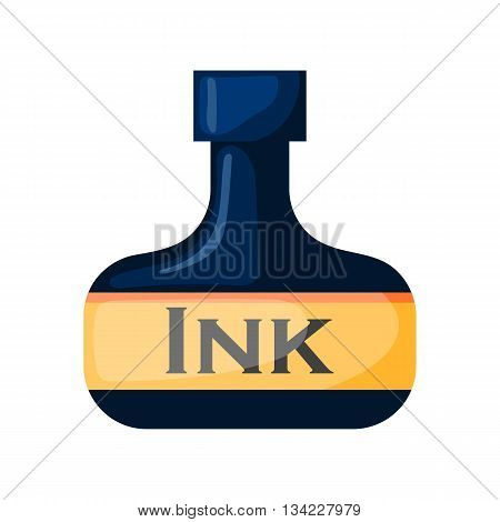 Vector ink bottle. Illustration in cartoon style