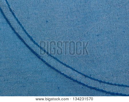 blue fabric made of cotton with expired suture blue thread