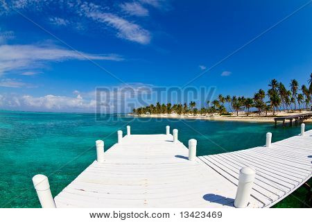 White Jetty Tropical Island