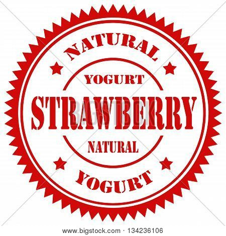 Red stamp with text Strawberry Yogurt,vector illustration