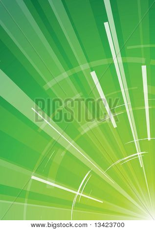 Green  background with rays