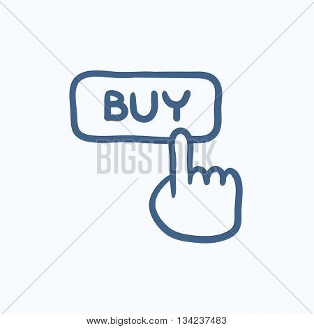 Buy button vector sketch icon isolated on background. Hand drawn Buy button icon. Buy button sketch icon for infographic, website or app.