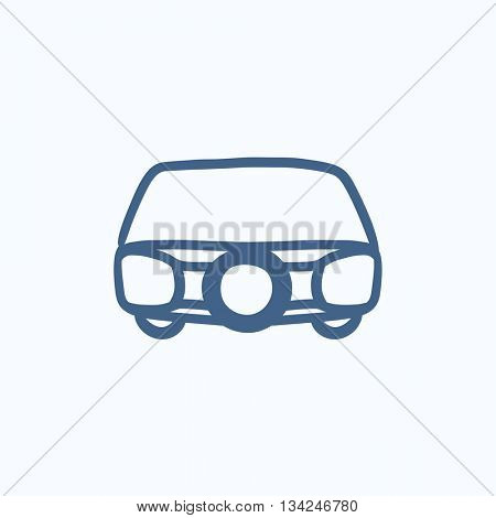 Multimedia projector vector sketch icon isolated on background. Hand drawn Multimedia projector icon. Multimedia projector sketch icon for infographic, website or app.