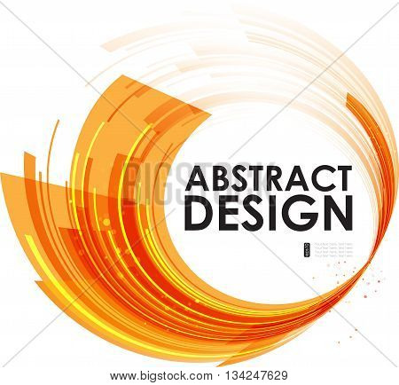 Abstract technology circles orange background motion composition