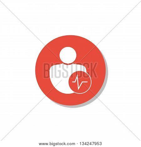 User Pulse Icon In Vector Format. Premium Quality User Pulse Symbol. Web Graphic User Pulse Sign On