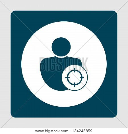User Goal Icon In Vector Format. Premium Quality User Goal Symbol. Web Graphic User Goal Sign On Blu