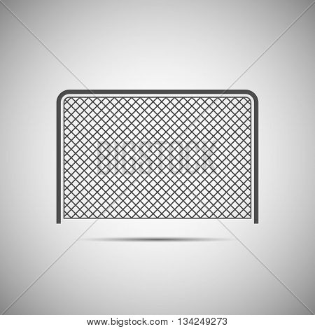 Icon ice hockey with a gate vector illustration.