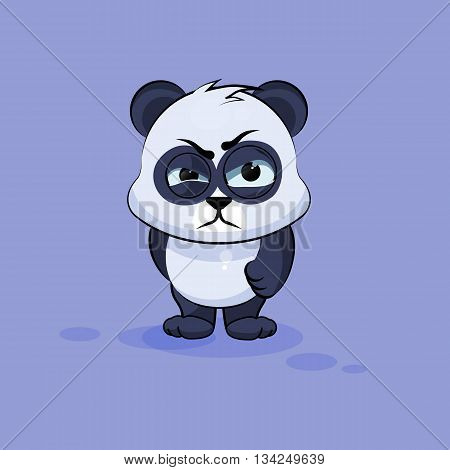 Vector Stock Illustration isolated Emoji character cartoon Panda sticker emoticon with angry emotion for site, info graphic, video, animation, websites, e-mails, newsletters, reports, comics