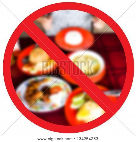 No fried foods no it's healthy and stop obesity. Abstract sign.