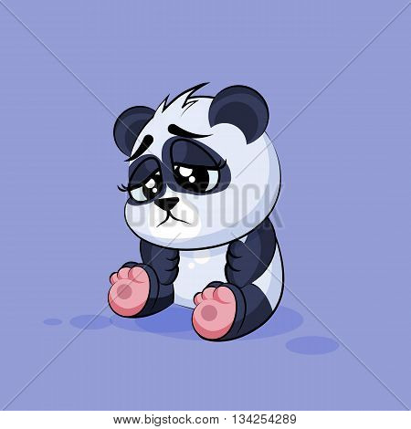 Vector Stock Illustration isolated Emoji character cartoon Panda sad and frustrated sticker emoticon for site, info graphic, video, animation, websites, e-mails, newsletters, reports, comics