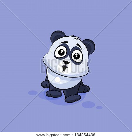 Vector Stock Illustration isolated Emoji character cartoon Panda surprised with big eyes sticker emoticon for site, info graphic, video, animation, websites, e-mails, newsletters, reports, comics