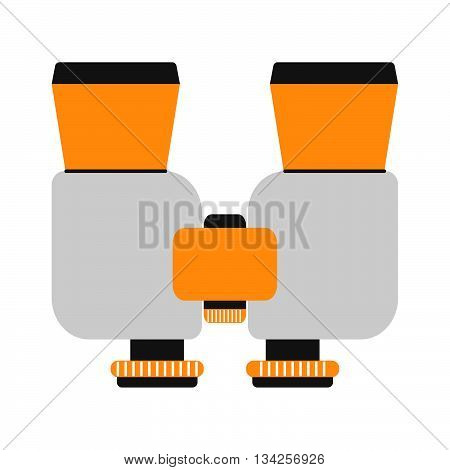 Binoculars Isolated On White Background. Binoculars Vector Illustration. Binoculars Vision Military