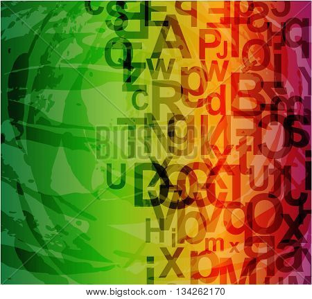 abstract background with letters, illustration forr your design