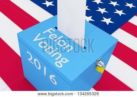 Felon Voting 2016 Election Concept