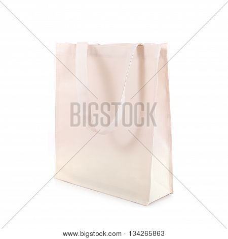 White Cotton Bag Isolated On White