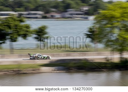Detroit, MI - Jun 03, 2016:  The IMSA WeatherTech Sportscar Championship teams take to the track to qualify for the Chevrolet Detroit Belle Isle Grand Prix at Belle Isle Park in Detroit, MI.