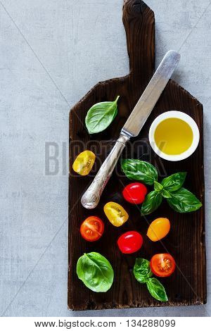 Cutting Board And Ingredients