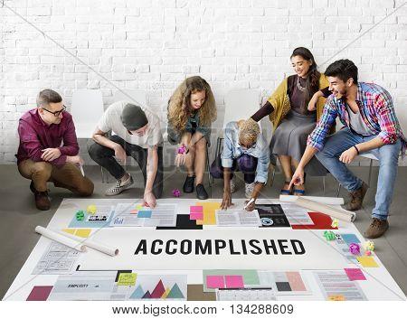 Accomplished Achieve Development Excellence Concept