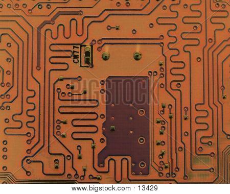 Brown Tone Circuit Board