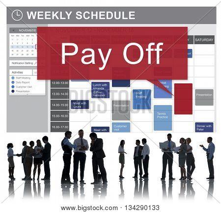 Pay Off Debts Loan Money Bankruptcy Bill Credit Concept