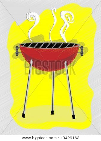Bbq Scribble Sketchy Retro Ad Style Vector Illustration