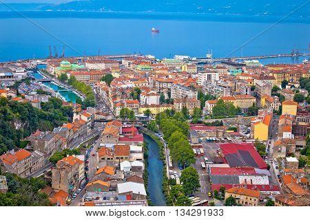 City of Rijeka aerial view Kvarner Croatia
