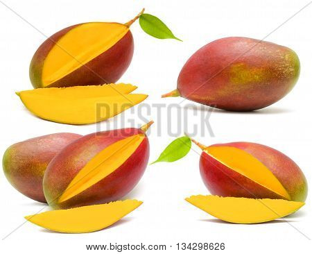 Mango isolated on white - fruit set
