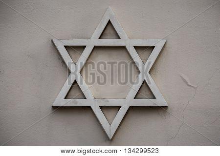Star of David symbol of Judaism the symbol of the Jews.