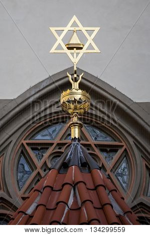 Star of David symbol of Judaism, the symbol of the Jews. poster
